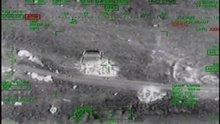 Bomba yüklü araç ATAK helikopteri tarafından böyle imha edildi