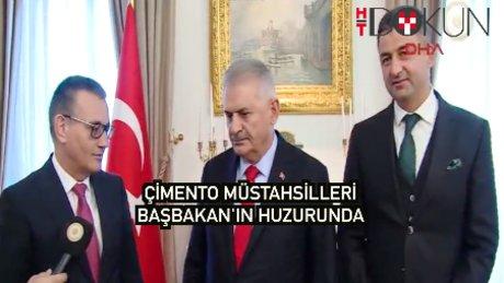 Başbakan Türkiye Çimento Müstahsilleri Birliği heyetini ağırladı