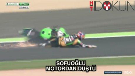 Kenan Sofuoğlu motordan düştü