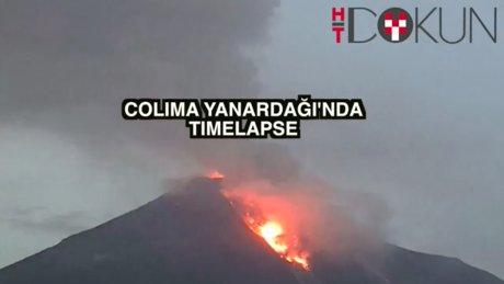 Colima Yanardağı yeniden faaliyette