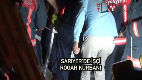 Sariyer'de işçi rögar kurbanı