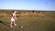 Golf oynarken drone düşüren ufaklık