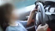 Bursa'da, 10 yaşındaki oğluna araba kullandırdı