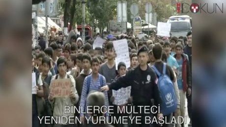 7 bin kişi Macaristan'a yürüyor