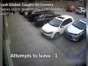 Aynı arabaya 21 defa çarptı!