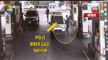 Antalya'da bir şahıs polisin yüzüne tiner döktü!
