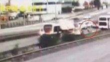 Otoyoldaki feci kaza güvenlik kamerasında