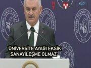 """Başbakan İTÜ'de: """"Üniversite ayağı eksik sanayileşme olmaz"""""""