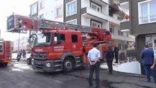 Öğrencilerin kaldığı apart binada korkutan yangın