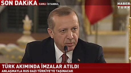 Cumhurbaşkanı Erdoğan ve Rusya Devlet Başkanı Putin, Türk akımı anlaşmasını imzaladı