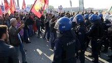 Ankara Garı'na yürümek isteyen gruba polis müdahale etti