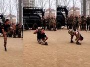 Yok artık dedirten askeri talim!