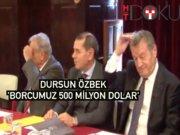 """Dursun Özbek: """"Mali bağımsızlığımızı sağlamalıyız"""""""