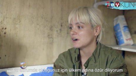 Liliy Allen Calais'de ağlayarak özür diledi