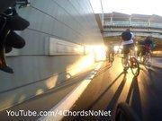 Otobanda hatalı bisiklet sollaması