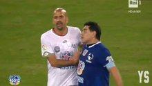 Maradona, barış maçında yine gerginlik çıkardı