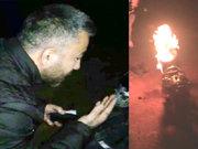 Tamiri için sürekli para ödemekten bıktığı motosikletini ateşe verdi