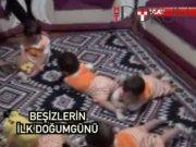 Türkiye'nin yaşayan tek beşizleri okullu oldu