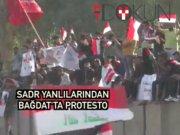 Bağdat'ta Sadr yanlılarından Başika protestosu