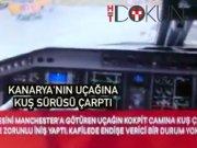 Fenerbahçe uçağına kuş sürüsü çarptı!