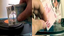 Pikap iğnesi yerine kağıt para kullandılar