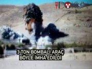 Mardin'de 2.5 ton bomba yüklü minibüs böyle imha edildi