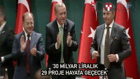 """Erdoğan:""""41 bin yatağa, 30 milyar liralık 29 proje hayata geçecek"""""""