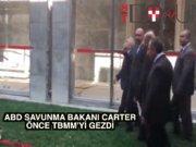 ABD Savunma Bakanı Carter TBMM'de