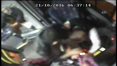 İETT otobüsü şoförüne dayak kamerada