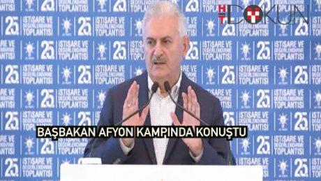 Binali Yıldırım AK Parti kampında konuştu