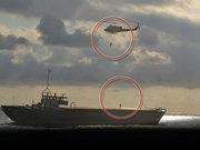 Yan yatan geminin 8 personeli kıyıya ulaştı