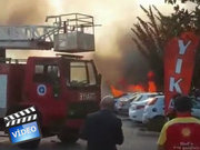 Antalya'da patlamanın hemen ardından çekilen görüntü