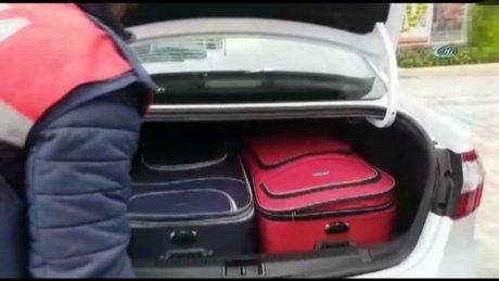 Otomobilin bagajından 13 kilo uyuşturucu çıktı