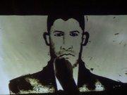 Şehit Ömer Halisdemir'in resmini kum sanatıyla çizdiler