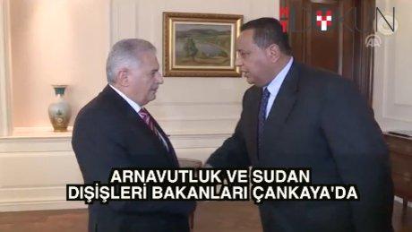 Başbakan Yıldırım Arnavutluk Dışişleri Bakanı'nı kabul etti