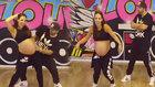 Break dans yapan 9 aylık hamile kadın