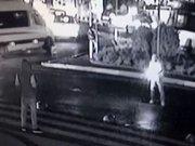 El yapımı patlayıcıyla saldırı güvenlik kamerasında