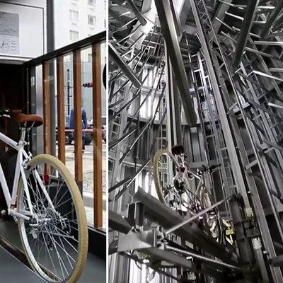 Japonya'daki sıra dışı bisiklet parkı!