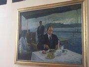 15 Temmuz Darbe girişiminde hasar gören Atatürk tablosu yeniden asıldı
