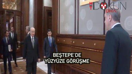 Erdoğan ve Bahçeli'den Beştepe'de ikili görüşme