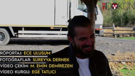 Engin Altan Düzyatan ile dizi setinde