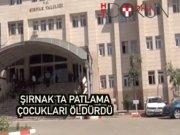 Şırnak'ta patlama: 2 çocuk öldü