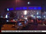 Atatürk Havalimanı'nda hareketli dakikalar