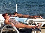 Marmaris'te sıcak havanın tadını çıkardılar