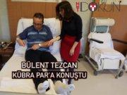 Kübra Par'dan Bülent Tezcan'a hastane ziyareti