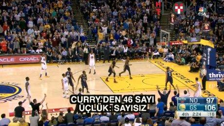 Curry'den üçlük rekoru