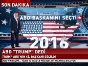 Trump ABD'nin 45. başkanı  seçildi