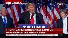 ABD'nin 45. Başkanı Donald Trump'tan zafer konuşması