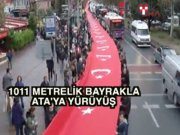 Beşiktaş'ta bin 11 metrelik dev Türk Bayrağı