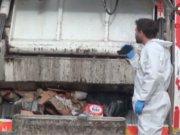 Çöp konteynerında battaiyeye sarılmış ceset